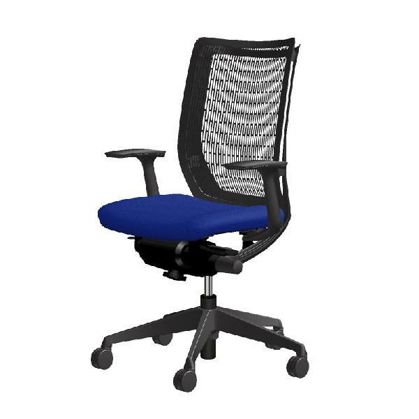 お気に入りの椅子 ヴィスコンテ オカムラ ハイバック 固定肘 ブラックフレ-ム  CW71ZA