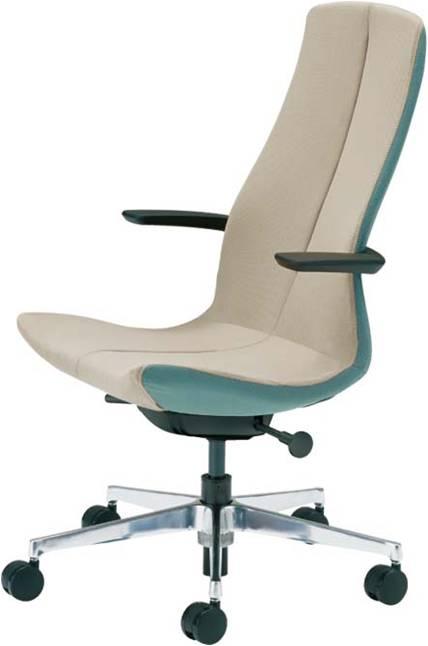 オフィス椅子 シフト ツートンカラー オカムラ L434NA