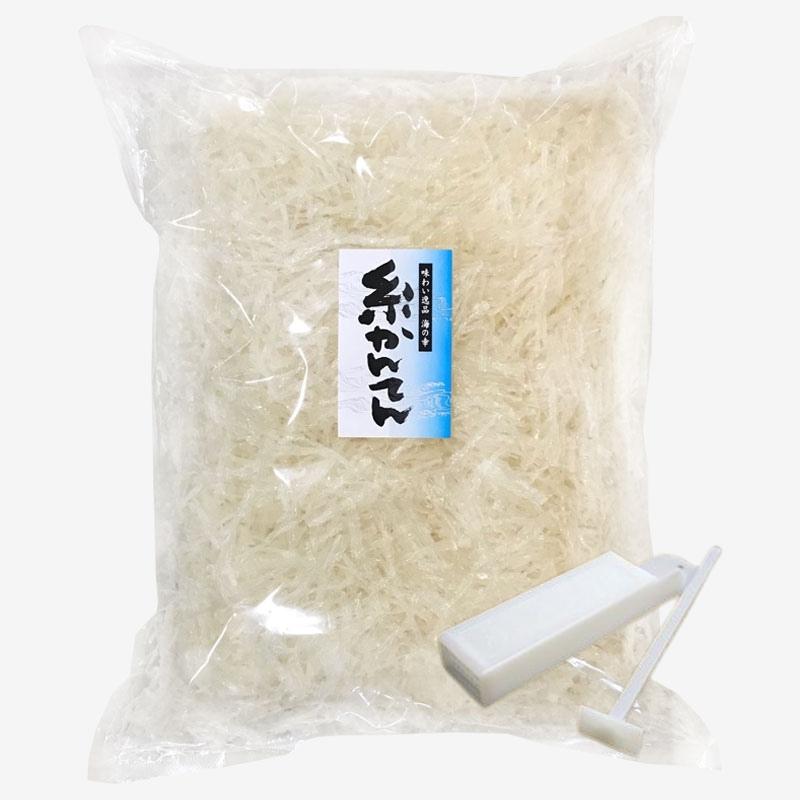 寒天のことなら海藻本舗 寒天 糸寒天 500g 中国原料使用 保存食 チャック袋付 交換無料 国内包装 ところてん突き棒付 驚きの値段で