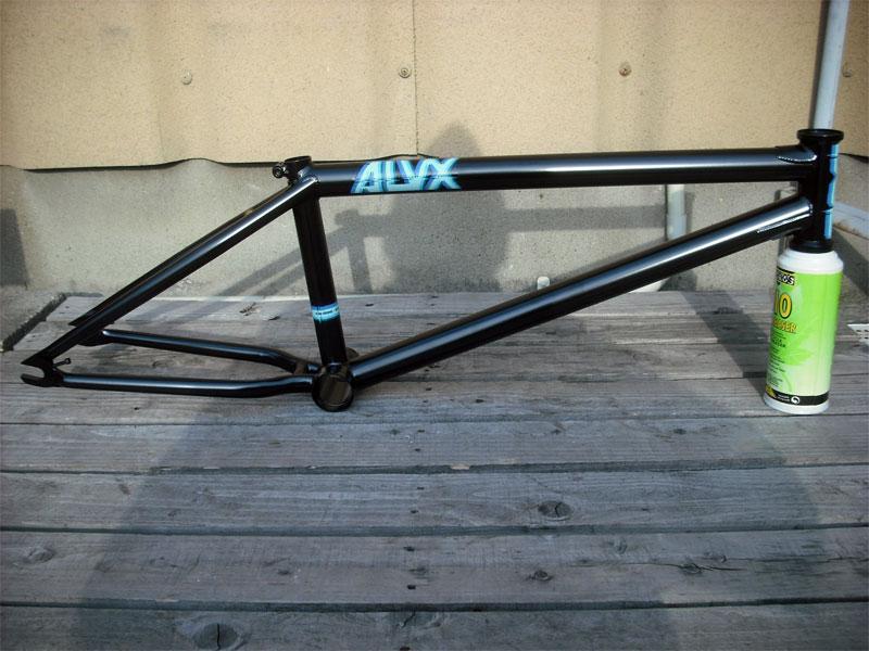BMXフレーム【BSD ALVX V3 Frame BLACK】ストリートフレーム・トップ長20.3
