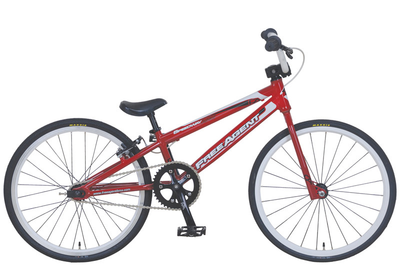 BMX 子供 ジュニア レーサー FREE AGENT speedway Junia Red オリンピックゴールドメダル ワールドチャンピオンブランド フリーエージェント キッズ racer 適応身長 130cm~140cm