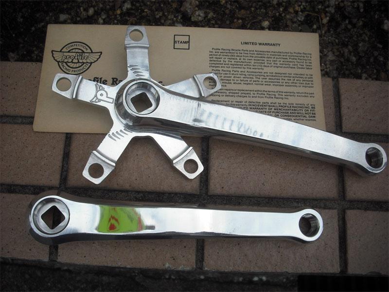 【現金特価】 NOS Parts/Vintage Parts/Vintage Parts【PROFILE Billet Billet NOS Aluminum Crankset 165mm】アルミ3PCクランク/昔のパーツ/NOS, 杉並区:674afc1c --- projetoreservado.com