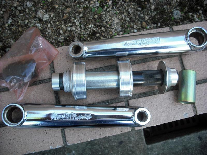 NOS Parts/Vintage Parts【PROFILE BMX SS Crankset RHD 170mm CP】アルミ3PCクランク/mid school/NOS