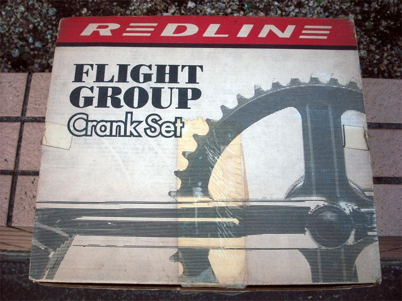 401 FLIGHT【RED LINE 401 FLIGHT CRANK SET single pinch 180mm 】old mid school/NOS