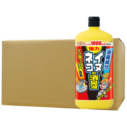 アースガーデン イヌ・ネコの消臭液 1000ml×12本【イヌ・ネコ用液剤】