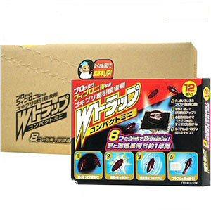 チャバネゴキブリ クロゴキブリ駆除 Wトラップコンパクトミニ 12個入り×48箱