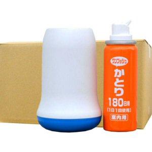 蚊駆除 Wトラップ ワンプッシュかとり 180日用 容器セット×24セット