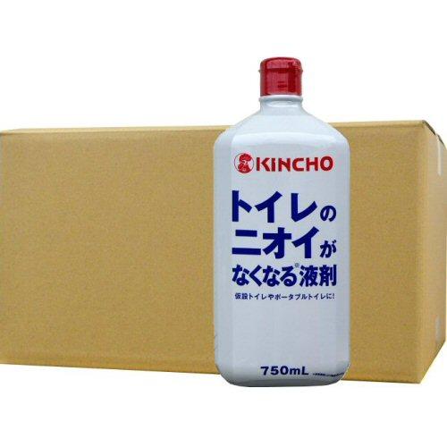 トイレのニオイがなくなる液剤750ml×12本 仮設トイレの悪臭対策【北海道・沖縄・離島配送不可】