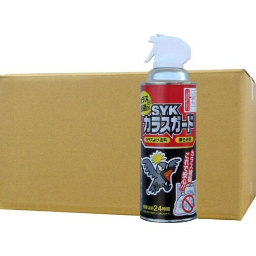 カラスガード420ml×24本 カラス対策 烏忌避剤 辛味成分スプレーでカラスを追い払う