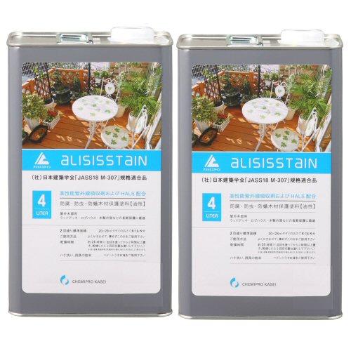 アリシスステイン パリサンダー 4L×2本 [木材保護塗料]