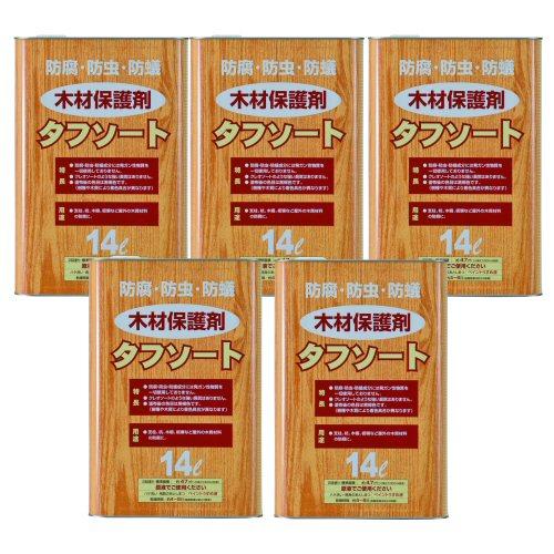 タフソート 14L×5本 [木材保護剤]【北海道・沖縄・離島配送不可】