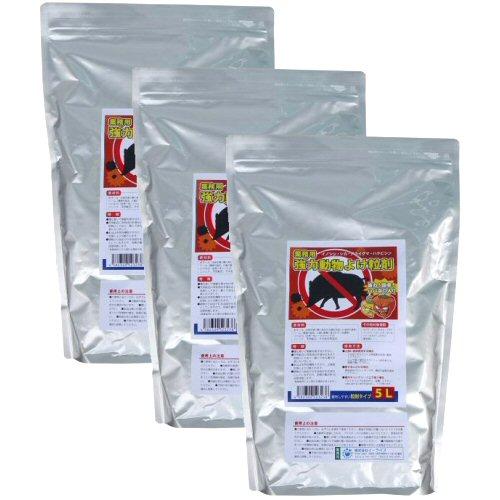 業務用強力動物よけ粒剤 大容量5L×3袋 猪・鹿よけ 激辛ハバネロを追加した強力忌避剤!
