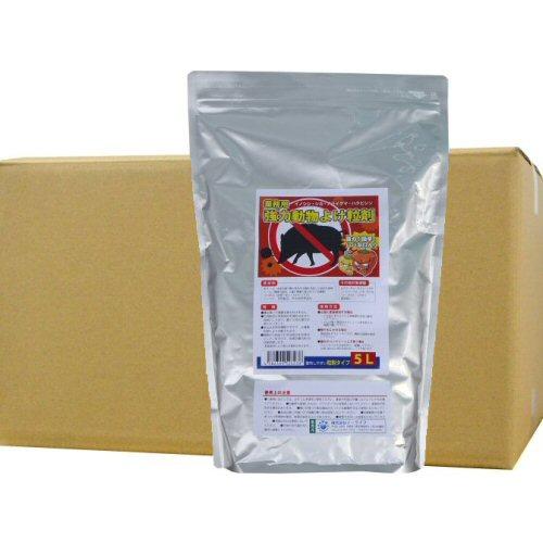 業務用強力動物よけ粒剤 大容量5L×10袋 猪・鹿よけ 激辛ハバネロを追加した強力忌避剤!