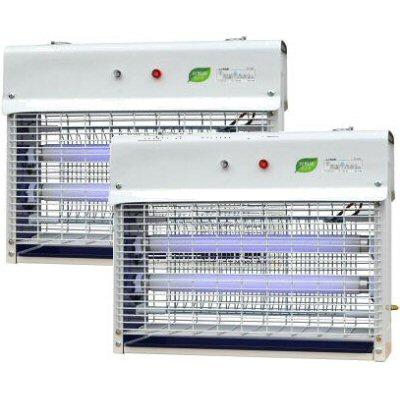 電撃殺虫器 光触媒 捕虫ランプ 20W 電撃殺虫器 PC-020A×2台 プロモート