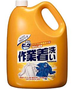 花王 液体ビック 作業着洗い 4.5kg×4本 液体洗濯用洗剤 【送料無料】