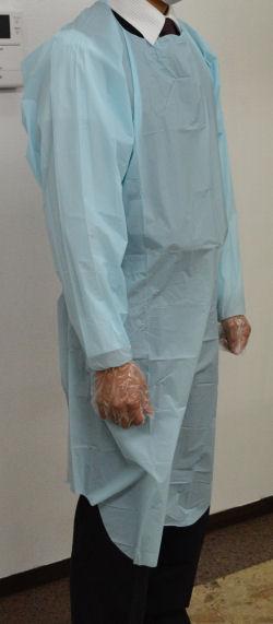 袖付PEエプロン XLサイズ 1枚/袋・50袋/ケース×4ケース(200枚)/ケース【送料無料】