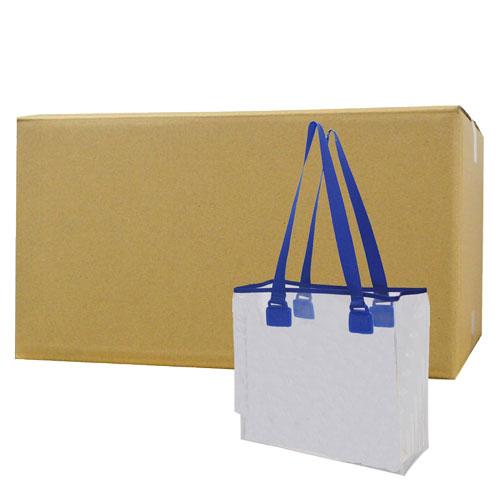 ビルメンバッグ 透明 透明トートバッグ【3455】×10個 軽量 清掃業者【北海道・沖縄・離島配送不可】