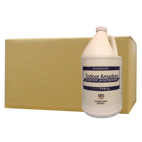 コスケム インドアアマド―レ 3.78L×4本 [室内壁面汚れ除去用洗剤] ヤニ汚れ、埃、カーボン系汚れなど
