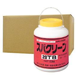 スパクリーン20TB 風呂水専用塩素剤 2.5kg×4缶 浴室 公衆浴場 消毒