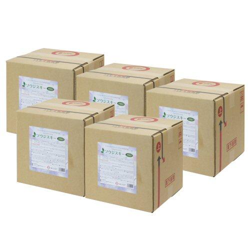 ソウジスキーPRO 20L BinB〈コック付き〉×5本 [除菌多目的洗浄剤][環境配慮型洗浄剤]