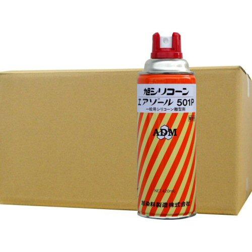 シリコンオイル スプレータイプ アサヒシリコーン エアゾール 501P 420ml×24本 高離形タイプ 平滑剤 旭シリコーン