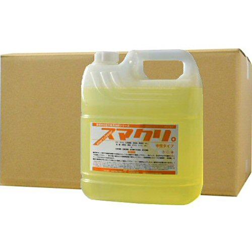 環境対応型万能洗剤 スマクリ 中性タイプ 4L×4本