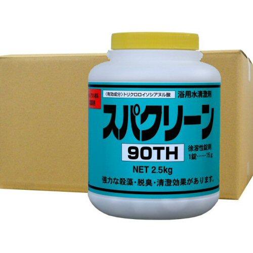 スパクリーン90TH 風呂水専用塩素剤 2.5kg×4缶 浴室 公衆浴場 消毒