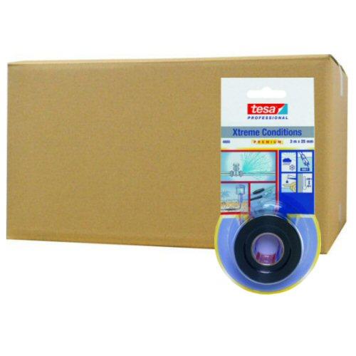 テサテープ 自己融着テープ ブラック 25mmx3m 4600BK3×12個セット 補修 絶縁 耐寒 耐熱性 水中