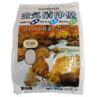 家庭化学工業 空気清浄壁 土 ニ坪用 3kg×5袋 カラーNO.4[ピンクベージュ] 【送料無料】