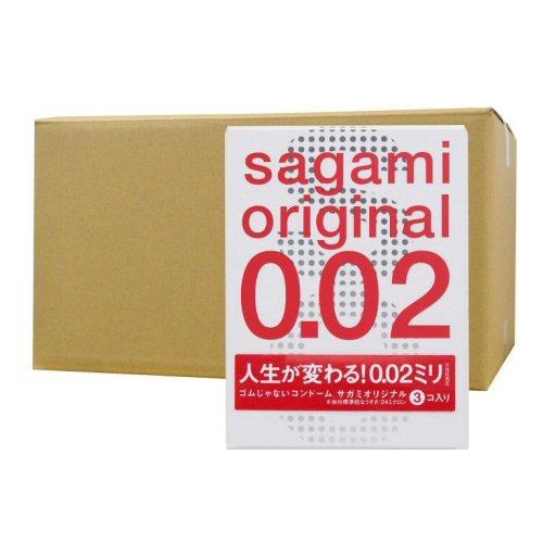 サガミオリジナル002 3個入り×60箱 ポリウレタン コンドーム うすい やわらかい