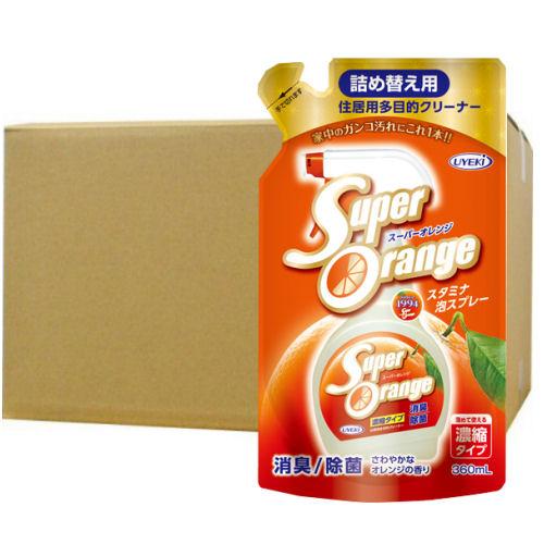 スーパーオレンジ 消臭・除菌泡タイプ 360ml×24個ケース[詰め替え用] UYEKI(ウエキ)[天然系住居用オレンジ洗剤]