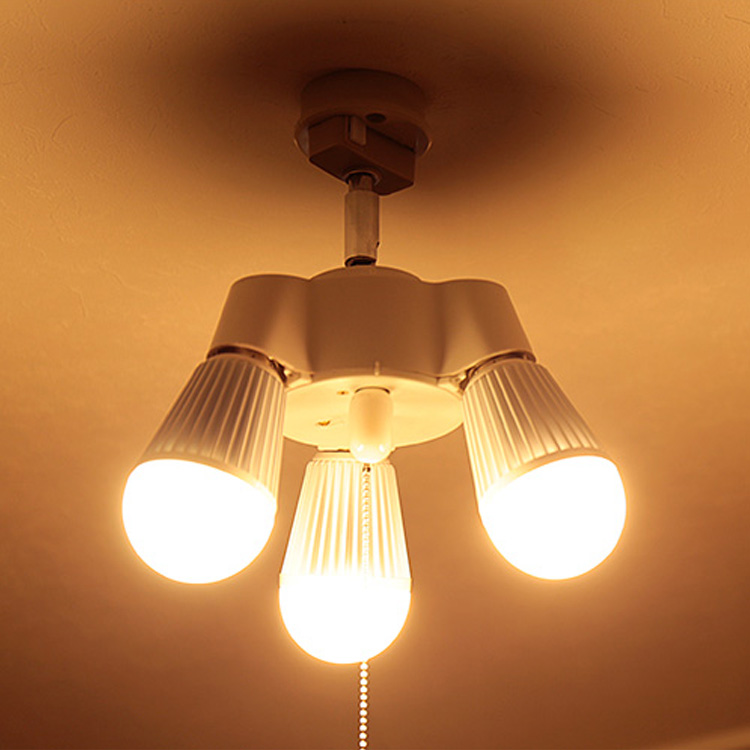 3灯 シンプルソケット BBA-004|照明 照明器具 天井照明 LED電球 シーリングライト ソケット プルスイッチ シンプル おしゃれ ランプ 電気 玄関 トイレ クローゼット 階段 シーリング ルームライト ペンダントライト 寝室 ペンダント ライト 工作 新生活