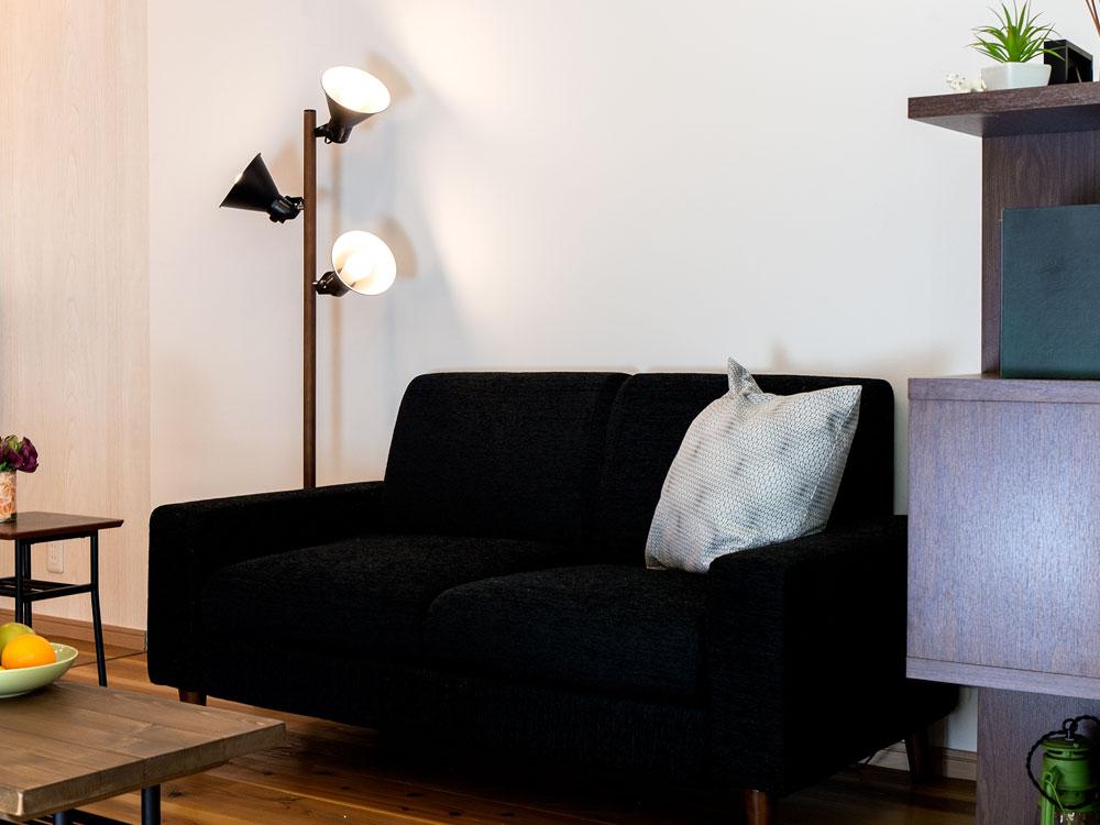 間接照明 寝室 おしゃれ フロアライト アロンザフロア[ALONZA FLOOR]BBF-032 |スタンドライト フロアランプ フロアスタンド 照明器具 北欧 リビング用 居間用 スポットライト スタンド LED 電気 アッパーライト 3灯 スポット 新生活
