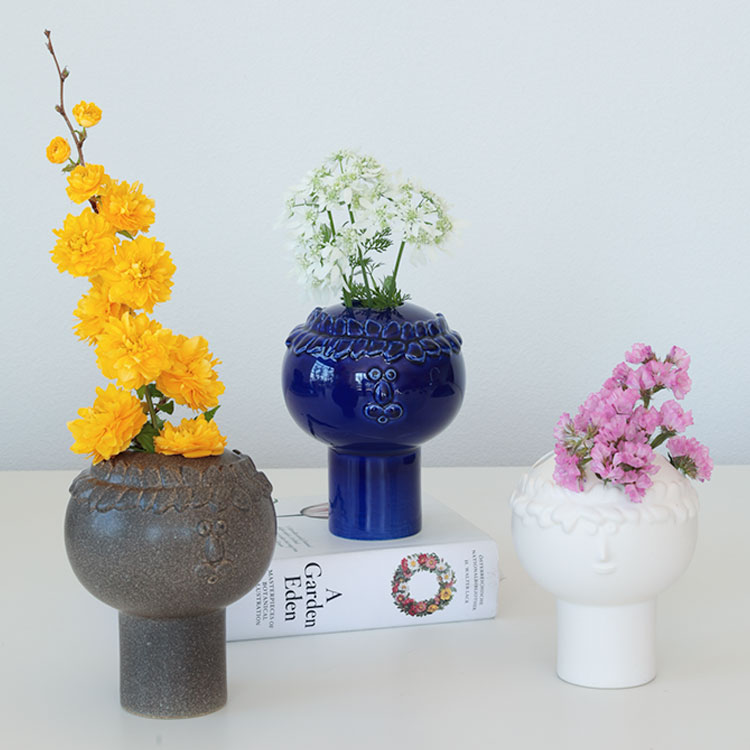 keramikstudion×Stig Lindberg フラワーベース【リサ・ラーソン LisaLarson 陶器 花瓶 花器 オブジェ 飾り 北欧 かわいい おしゃれ 女性 ギフト プレゼント テレワーク 在宅】