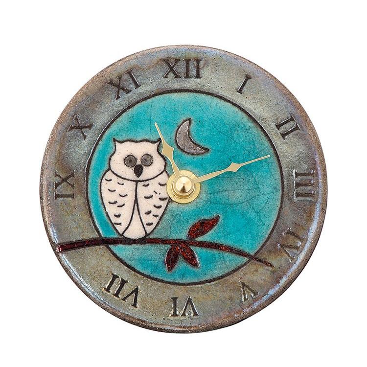【送料無料・一部地域を除く】掛け時計 ザッカレラZ147A【置き時計 掛け置き両用 卓上 時計 ウォールクロック 壁掛け イタリア 陶器 楽焼 アンティーク レトロ モダン アート リズム時計 手作り ハンドメイド ヨーロピアン 新生活 インテリア】
