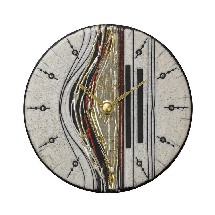 【送料無料・一部地域を除く】掛け時計 ザッカレラZ187【置き時計 掛け置き両用 卓上 時計 ウォールクロック 壁掛け イタリア 陶器 楽焼 アンティーク レトロ モダン アート リズム時計 手作り ハンドメイド ヨーロピアン 新生活 インテリア】