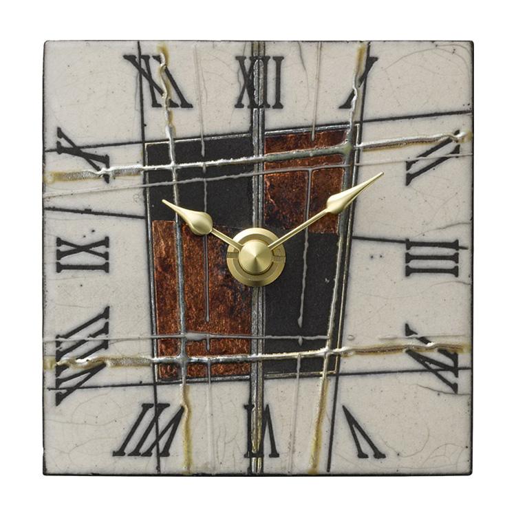 【送料無料・一部地域を除く】掛け時計 ザッカレラZ189【置き時計 掛け置き両用 卓上 時計 ウォールクロック 壁掛け イタリア 陶器 楽焼 アンティーク レトロ モダン アート リズム時計 手作り ハンドメイド ヨーロピアン インテリア テレワーク 在宅】