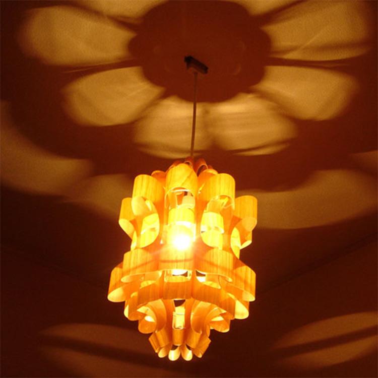 照明 LED 対応 和風 ペンダントライト 1灯 松2 ウッド WOOD 照明作家 谷俊幸【ライト 照明器具 インテリア照明 天井照明 間接照明 ダイニング 和室 木製 シェード モダン 6畳 6帖 和 デザイン デザイナーズ おしゃれ 新生活】