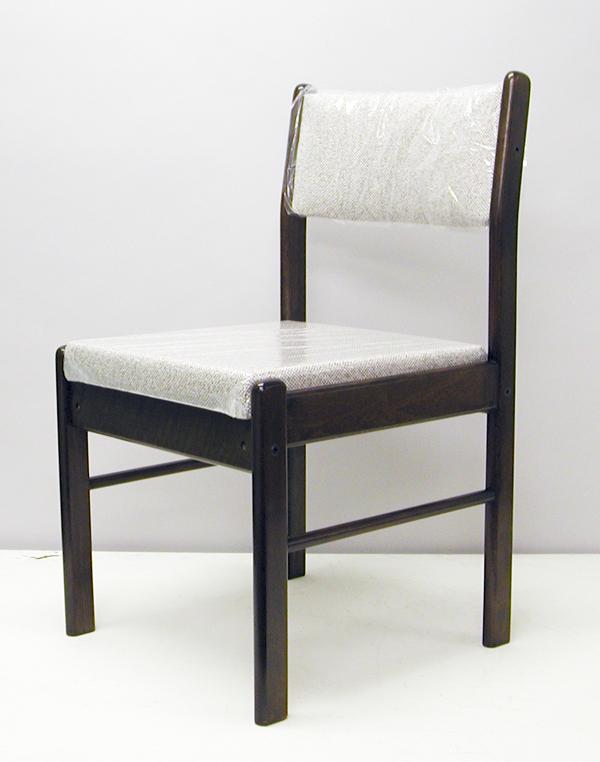 【送料無料】木製ダイニングチェア(布座)。座面が広く安定感があります。【お客様組立品】