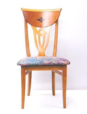 【送料無料】オリーブが嵌め込まれたハイバック椅子