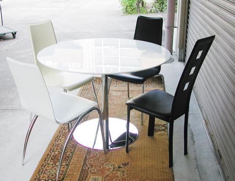 選ぶなら 【送料無料】ホワイトダイニング・丸テーブル~2人、3人、4人、詰めて5人~, ニシキムラ:727820b7 --- blablagames.net