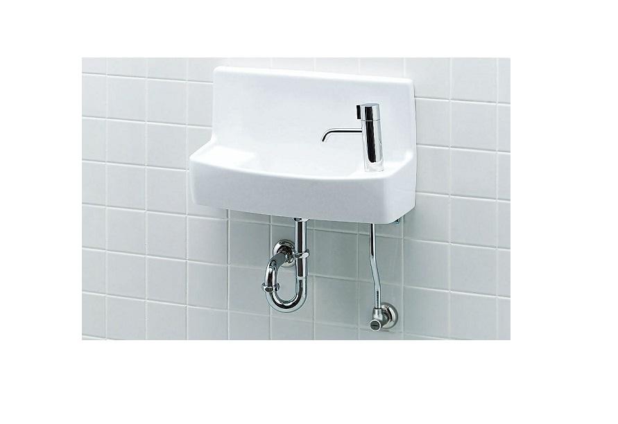 INAX 壁付手洗器 L-A74HC 【ハンドル水栓】【壁給水・壁排水】