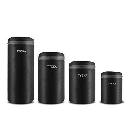 買収 TYCKA 100%品質保証 一眼フレカメラ レンズケース レンズ収納バッグ 10mm厚手 防水 一眼レフ等カメラレンズに対応 レンズポーチ デジタルカメラ ジッパー式 4サイズセット クッション性