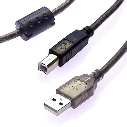 Cloud ElevenR USB2.0 プリンターケーブル 5m ABタイプ ファッション通販 Aオス-Bオス アウトレット 電子ドラムやキーボード等の電子楽器等にも フェライトコア付