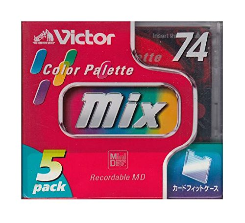 ※ラッピング ※ 74分録音MDメディア5枚パック Victor 5MD-74GFX 売却