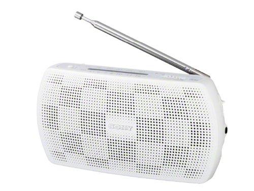 SONY ステレオポータブルラジオ おすすめ ホワイト W 出群 SRF-18
