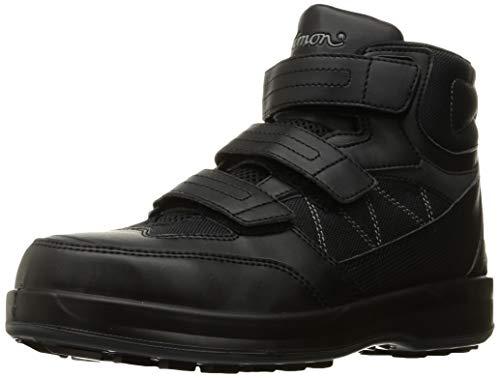 [シモン] 安全靴 JSAA規格 耐滑 耐油 メッシュ ハイカット 安全スニーカー SL28 黒 25.5 cm 3E