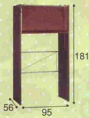 【日本製・送料無料】 クローゼットハンガー(木目調ブラインド)幅95cm ブラインドカーテン付き 伸縮式 収納 ハンガーラック カーテン付き 木製 カバー付き 衣類収納 棚付 棚付き クローゼットハンガー