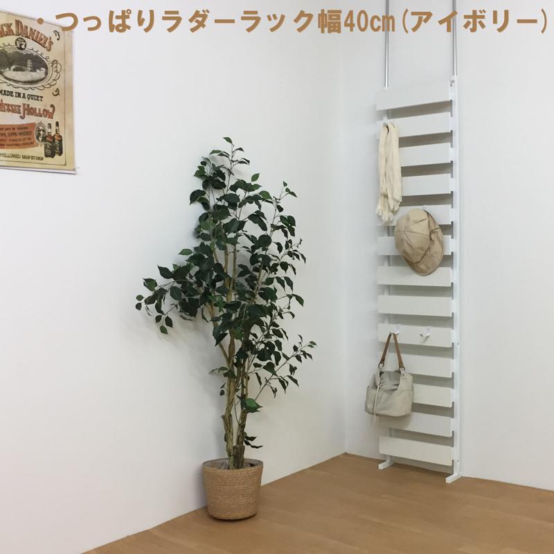 つっぱり 壁面 隙間無くならべられる ラック つっぱりラダー幅40cm 高さ180cm 【日本製・送料無料】 大型ラック 壁面収納 つっぱり デザイナー 隙間 すっきり 玄関先