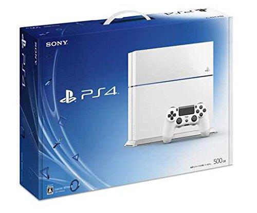 【送料無料】【中古】PS4 PlayStation 4 グレイシャー・ホワイト 500GB (CUH-1100AB02) プレイステーション4 プレステ4 本体(箱説付き)